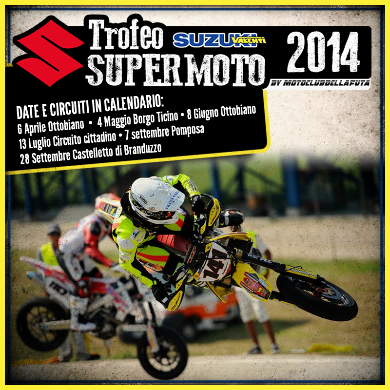 Calendario Castelletto Di Branduzzo.Trofeo Suzuki Supermoto 2014 Moto Club Della Futa
